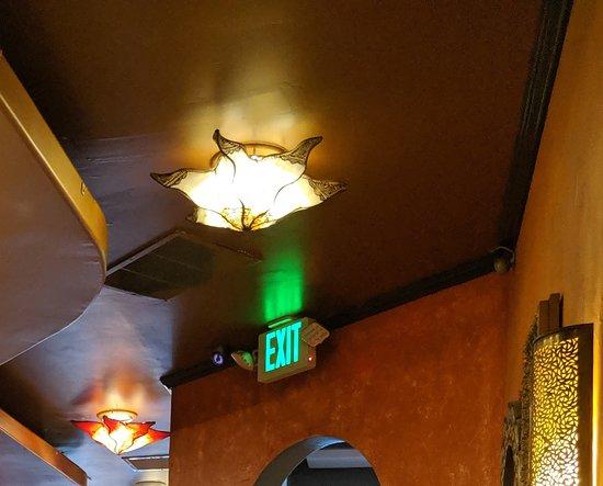 Leaking light fixture.