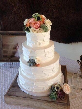 Tiered Textured Wedding Cake