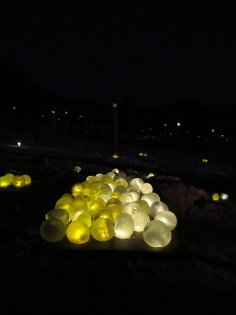 Handmade luminaries on table waiting for guests to place while making a New Year's wish.