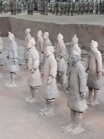 Repaired Life sized warriors