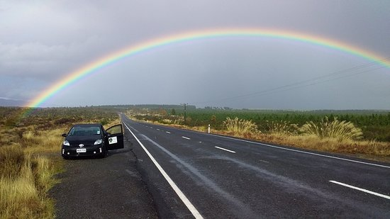 "Turangi, Nowa Zelandia: We can even get you to the ""pot of gold"" at the end of the rainbow. (Limited time offer!)"