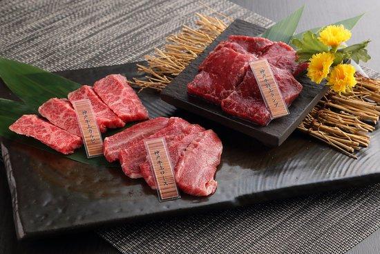神戸牛の3種類盛り合わせ