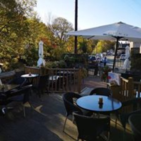 The East Gate Cafe & Brasserie: Outside Seating Area - perfect on a sunny day