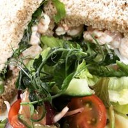 The East Gate Cafe & Brasserie: Eastgate Prawn Sandwich - we cut the bread to your preference