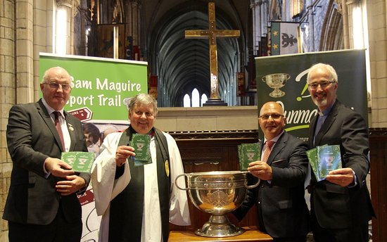 Sam Maguire Passport Trail : Launch of the Sam Maguire Passport by John Horan in St. Patrick's Cathedral following a church service to celebrate inclusiveness in the GAA.