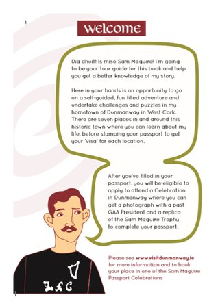 Sam Maguire Passport Trail : Introduction in the u12's Passport.