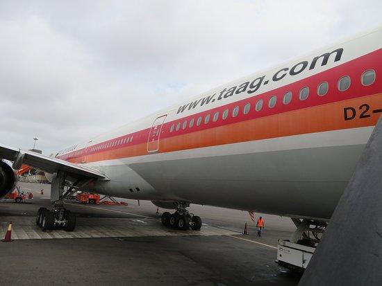 TAAG Angola Airlines: O avião que nos transportou, já no aeroporto