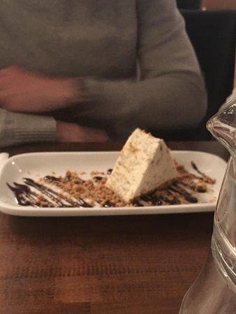 Toblerone Cheesecake with shortbread crumb topping...almost everyone was ordering this, it was gorgeous.