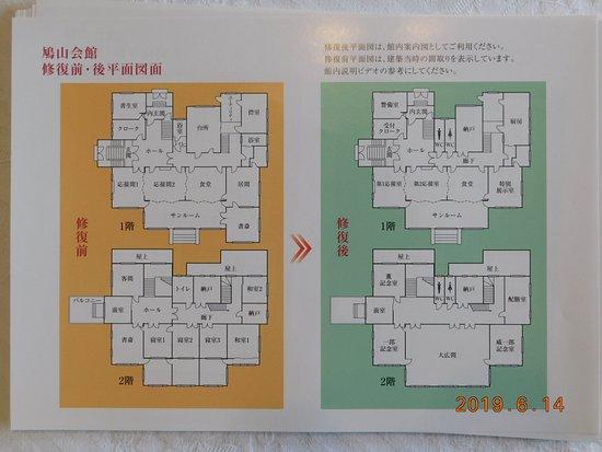Hatoyama Hall: 邸宅内フロアレイアウト
