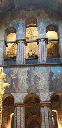 Kyiv (Kiev), Ukraine: Biblical frescoes on wall of cathedral