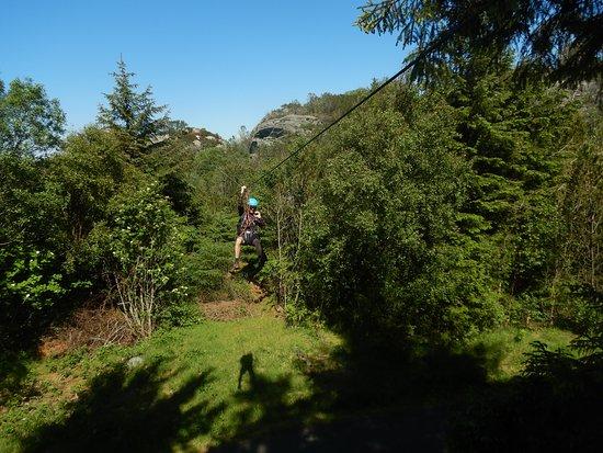 Via-ferrata Tour in Bergen: Zipline is the best!