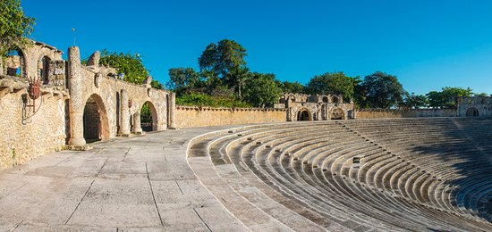 All the World's a Stage. At the center of the historic 16th century replica Mediterranean village Altos de Chavón is the stunning 5,000-seat Grecian-style amphitheater.