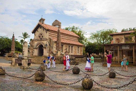 The Heart of Altos de Chavón. St. Stanislaus church is a charming stone building in the center of the village of Altos de Chavón.