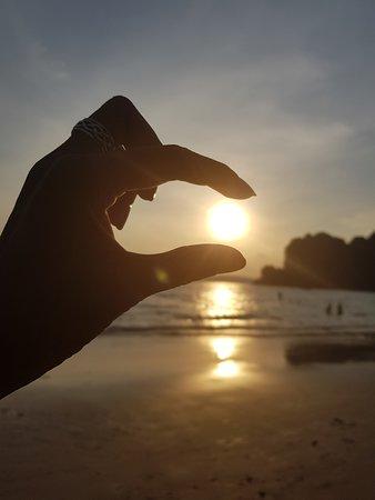 Railay Beach, Thailand: Beautiful sunset,,