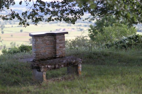 A 5,9 km de Genouilly se trouve le village de Saint Clément sur Guye - Table d'orientation avec un joli paysage