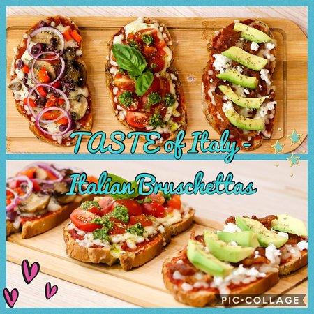 Our yummy Italian Bruschettas