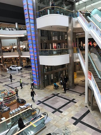 West Quay: A developing shopping area.
