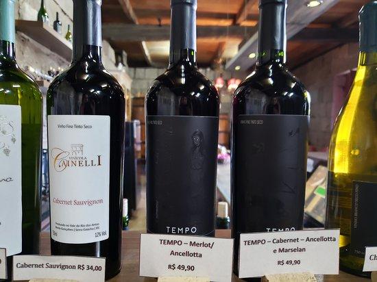 Vinhos degustados