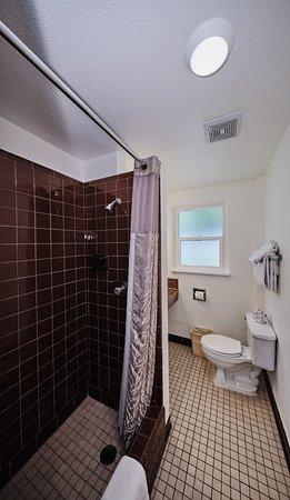 European small Queen bathroom