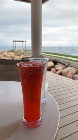 Villa Premiere Boutique Hotel & Romantic Getaway: Strawberry Margarita and Pier
