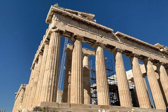 アクロポリスとアクロポリス博物館プライベートガイドツアー、食べ物の試飲とラン…