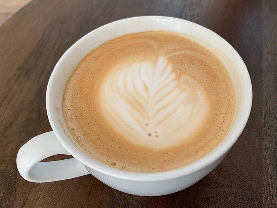 Silver Plume, Kolorado: Latte with plume design