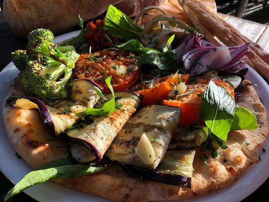 Flying Saucer Vegan Pizza: Vegan Antipasti