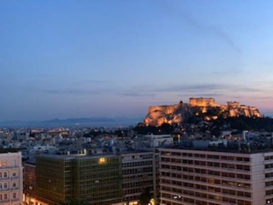 Evening view from rooftop