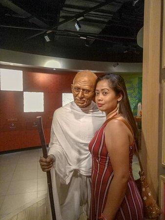 with mahatma gahndi