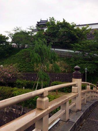 福知山城。橋の上からの眺め