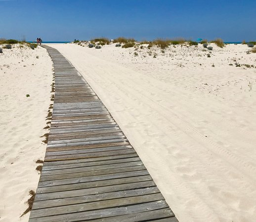 Olhao, Portugal : The walk to Armona Beach