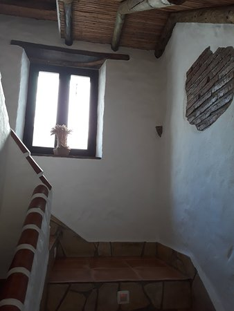 Stairway and views from the room