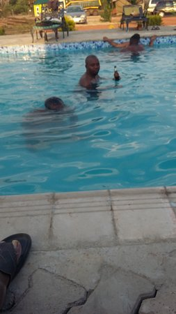 South Luangwa National Park, Zambia: ctvlodge swimming pool passing time