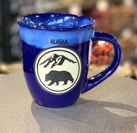 Alaska Shirt Company: Bear mountain mug in cobalt/