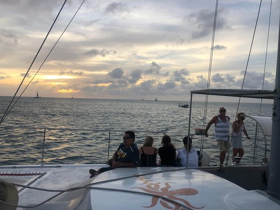 Another beautiful day today. Today we had 2 wonderful private trips, a beautiful Sunset Sail and an Aqua Donut. Will you join us next time?