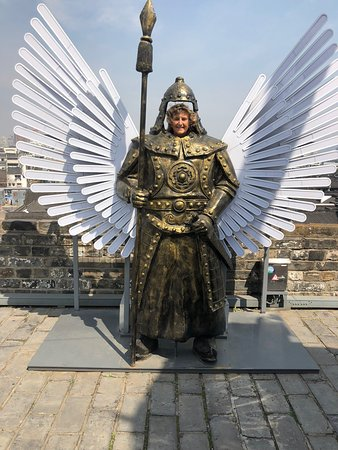 Zhonghua Gate (Zhonghuamen Castle): You can be a warrior!  When I stepped up to have my picture taken, our guides said there were no female warriors!