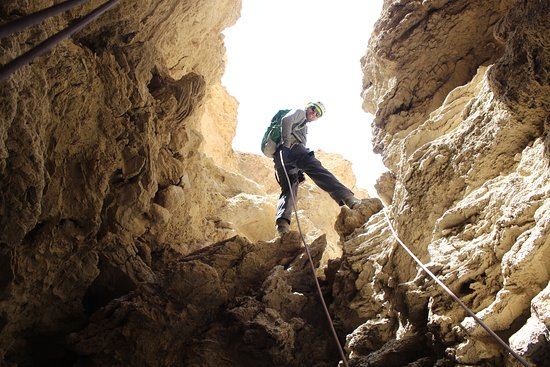 Dead Sea Region, Israel: Entering the Colonel Salt cave