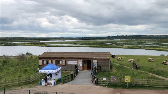 RSPB St Aidan's nature park: View fro Dragline of welcome centre