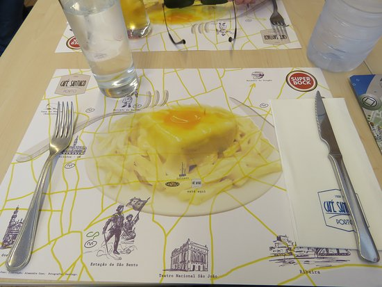 Cafe Santiago: Don't speak Portuguese? Just point to your placemat.