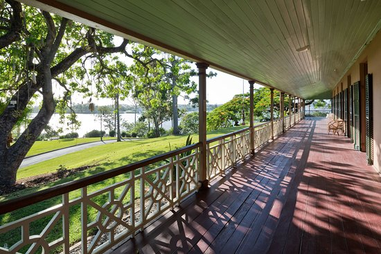 Newstead House General Entry Ticket: Newstead House verandah overlooking the park and river.
