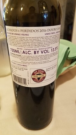 Perfect choice of red wine from the perfect Duoro region in Portugal. Medium bodied wine more like a Merlot. Goes with red meats or seafood!
