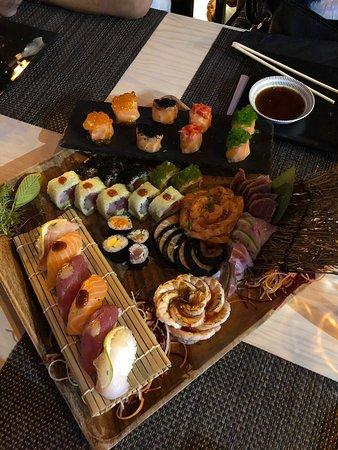 Miyabi Sushi by Rodrigo Mattos: Sushi originaux !tres jolie présentation