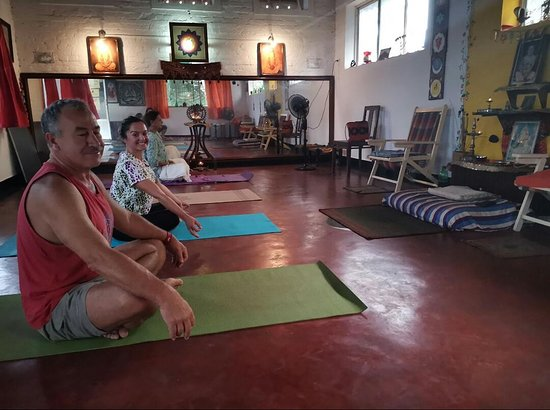 Adams Wood House: my gurus yoga class