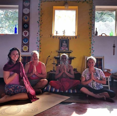 Adams Wood House: my guru with our guest