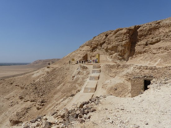 Northern Tombs at Amarna, looking south along the cliffs