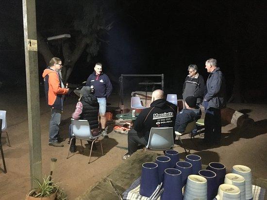 Sharing stories around the campfire