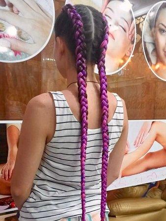 Beautiful hair braiding at golden touch 2.