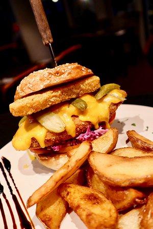 Unnis chicken burger