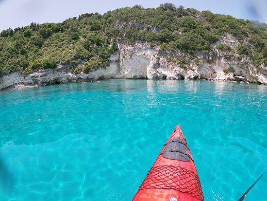 sea kayaking + turqoise water
