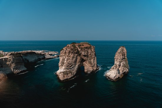 Rouche Sea Rock: Rouche Rocks / Bay Rock, is a sight to see in Beirut Lebanon. There is a street filled with nice restaurants with a beautiful view.